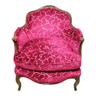 Petite French Bergere Chair For Sale