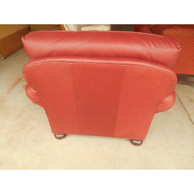 Whittemore-Sherrill Red Leather Lounge Chair - Image 5 of 6