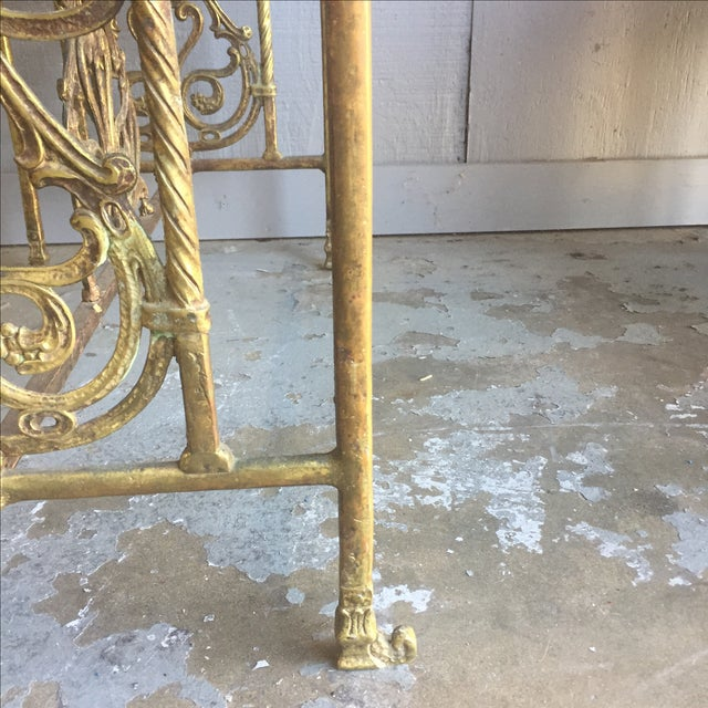 Bronze Oscar Bach Bronze and Iron Bench For Sale - Image 7 of 10