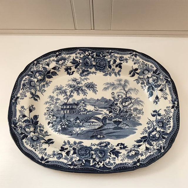 "1950s Vintage Royal Staffordshire Clarice Cliff ""Tonquin"" Platter For Sale - Image 9 of 9"