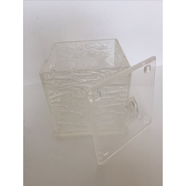 Lucite Chopped Ice Deisgn Ice Bucket - Image 3 of 7