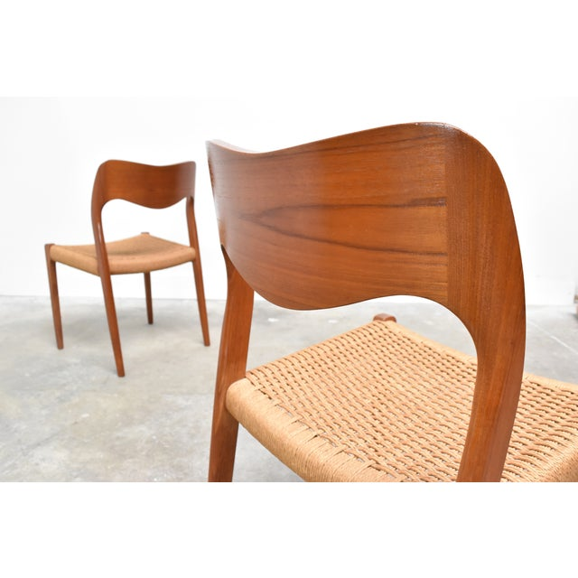 Danish Modern j.l. Møller Model 71 Teak Dining Chairs - Set of Six For Sale - Image 11 of 13
