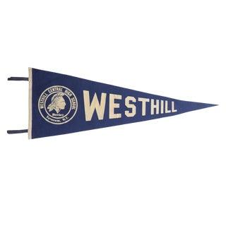 Vintage Westhill Felt Flag Pennant For Sale