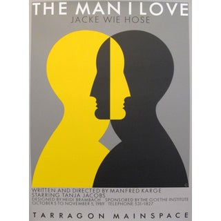 1980s Original Canadian Poster - the Man I Love by Theo Dimson For Sale