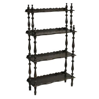 Early 20th Century Traditional Brown Wooden Etagere For Sale
