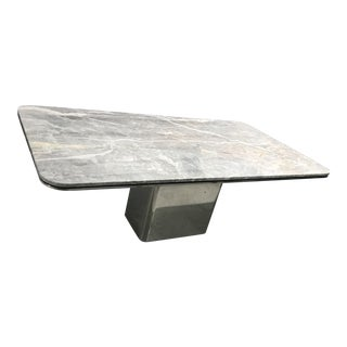 "1980s Modern Brueton Rectangular Marble ""Anello"" Table For Sale"