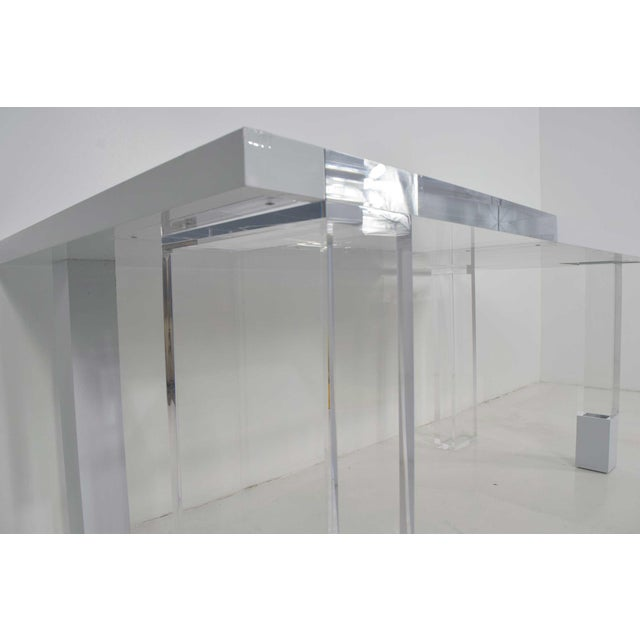 Contemporary Lucite & White Lacquer Desk For Sale In Dallas - Image 6 of 10
