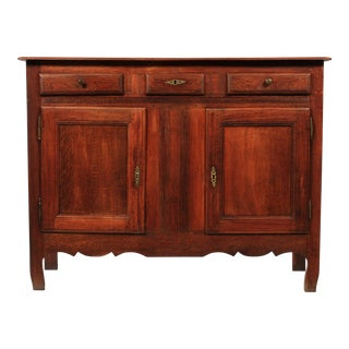 French Country-Style Oak Buffet Ca 1900 For Sale