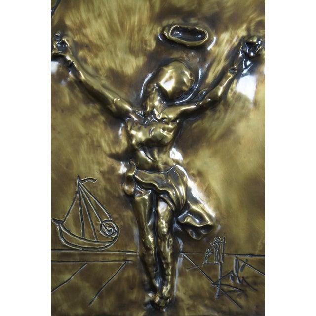 Bronze 1979 Salvador Dali Christ of Saint John of the Cross Bas Relief Bronze Plaque For Sale - Image 8 of 13