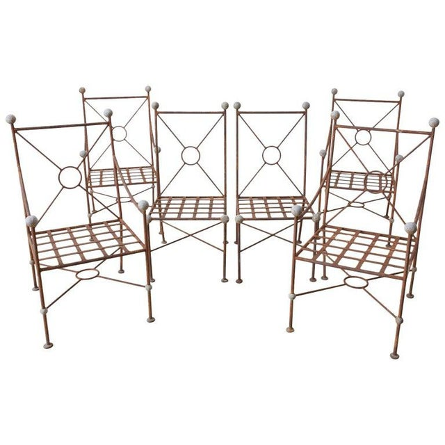 Set of Six Mario Papperzini for Salterini Style Garden Chairs For Sale - Image 13 of 13