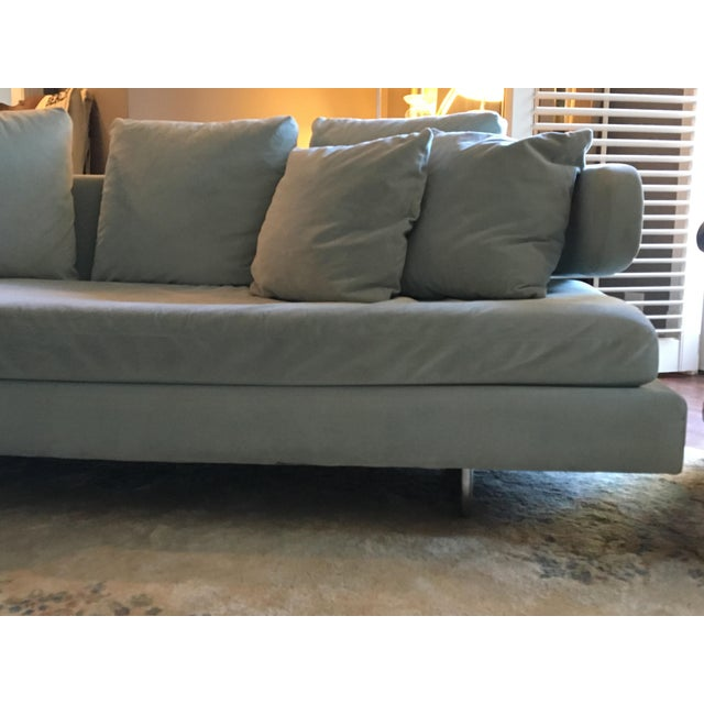 Mid 20th Century Vintage Mid Century Modern Curved Sectional Couch B&b Italia Style For Sale - Image 5 of 11