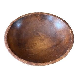Vintage Munising Turned Wood Dough Bowl For Sale