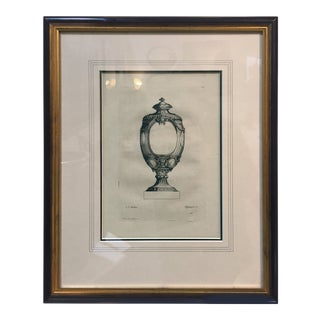 18th Century Antique Neoclassical Urn Print For Sale