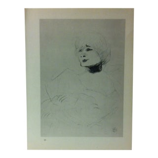 """Circa 1980 """"Marcelle Lender in the Theatre Des Varietes 1898"""" Print of a Toulouse-Lautrec Drawing For Sale"""