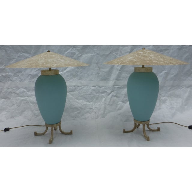 Karl Springer Murano Glass Table Lamps - A Pair - Image 2 of 8