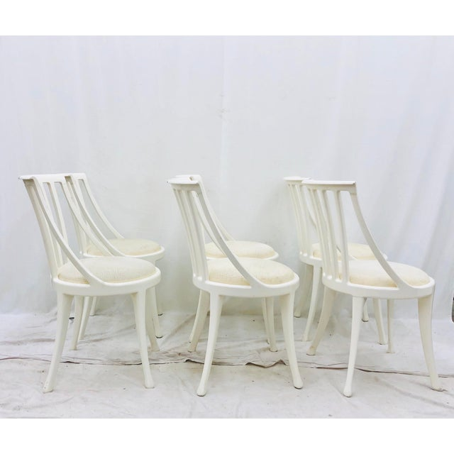 Set Vintage Poltrona Frau Dining Chairs For Sale In Raleigh - Image 6 of 13
