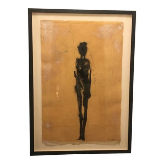 2000 Minimalist Figurative Mixed-Media Painting by Garufi, Framed For Sale