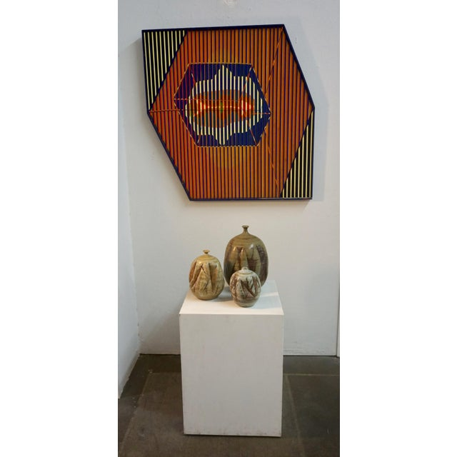 2000 - 2009 Tim Keenan Abstract Ceramic Vessels - a Pair For Sale - Image 5 of 11