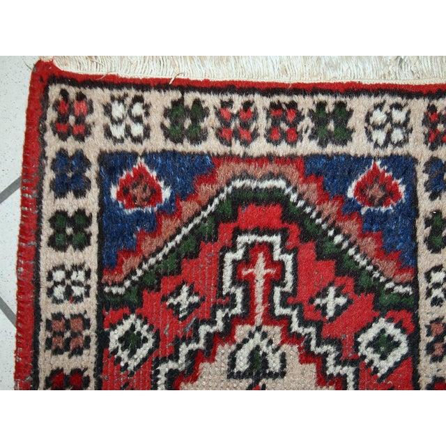 1970s, Handmade Vintage Persian Hamadan Rug 1.3' X 1.9' For Sale - Image 4 of 10