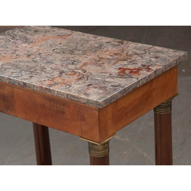 Early 20th Century French Empire Mahogany Marble Top Table For Sale In Baton Rouge - Image 6 of 13