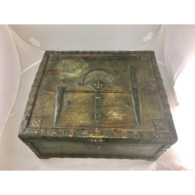 Iron 19 Century Oriental Cashbox For Sale - Image 7 of 10