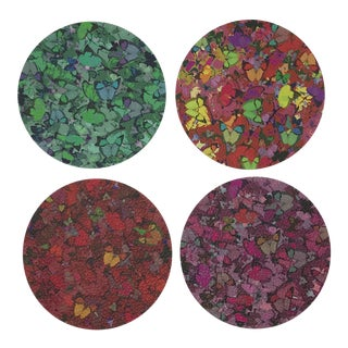 Mariposa Coasters, Set of 4 For Sale