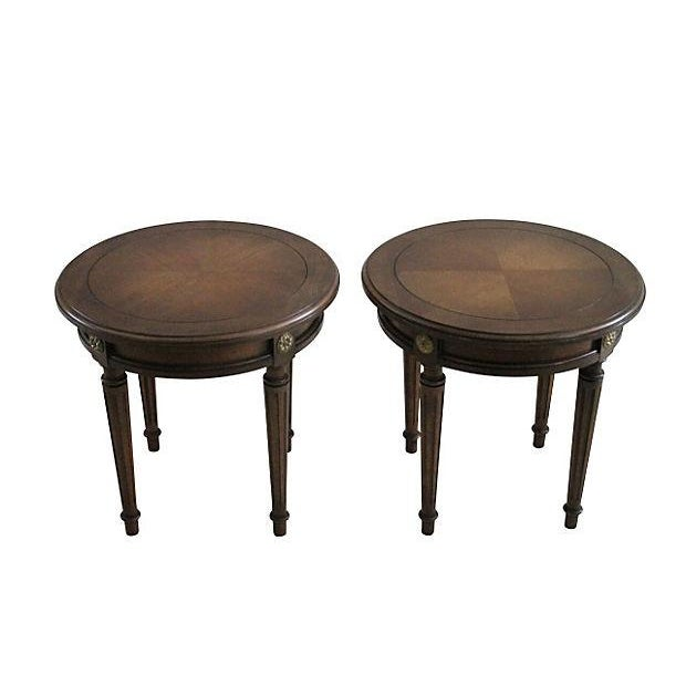 Louis XVI Taboret Tables - A Pair - Image 2 of 3