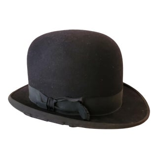 Antique Black Bowler Hat For Sale