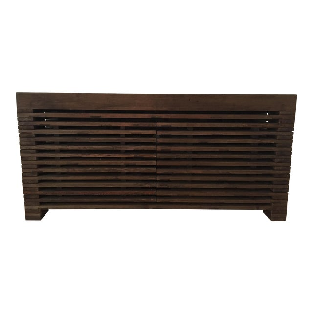 Restoration Hardware Slatted Door Sideboard - Image 1 of 7
