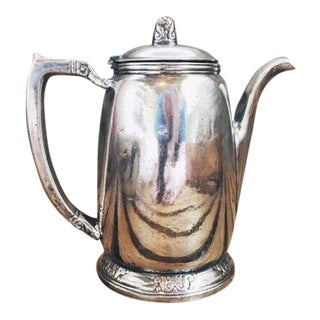 1970s Vintage Silver Plated Waldorf Astoria Hotel Teapot For Sale
