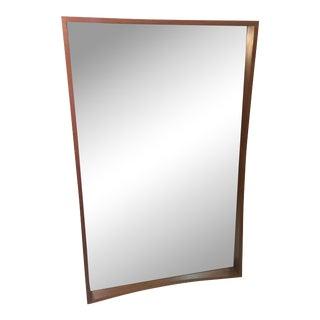 Modernist Danish Splined Teak Mirror