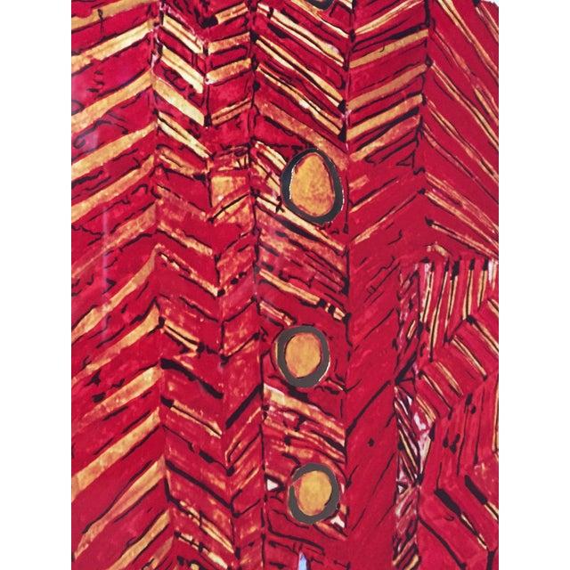 """Vintage 1973 Framed """"Hundertwasser"""" Exibition Poster For Sale - Image 5 of 11"""