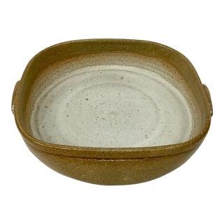 Artisan Vintage Stoneware Casserole Dish For Sale