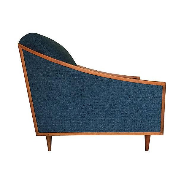 Blue Mid-Century Lounge Chair - Image 3 of 8