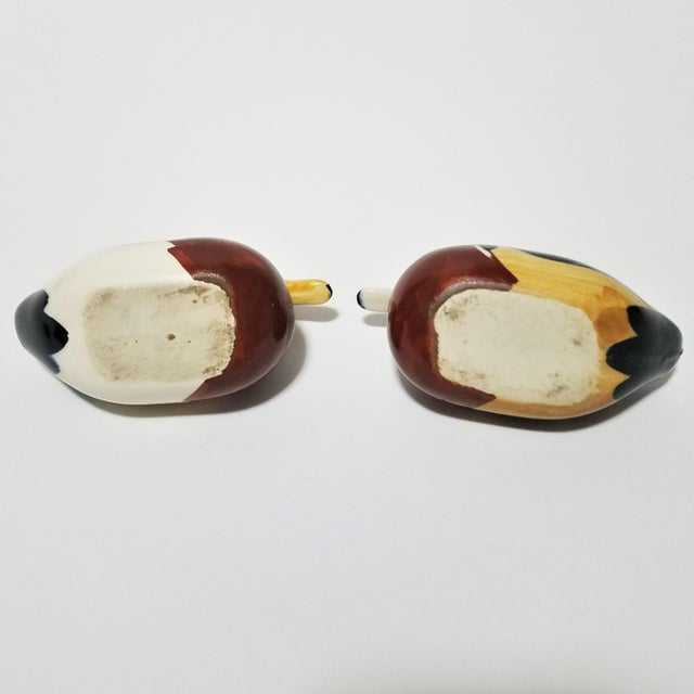 Vintage Ceramic Duck Vessels - A Pair For Sale - Image 4 of 9