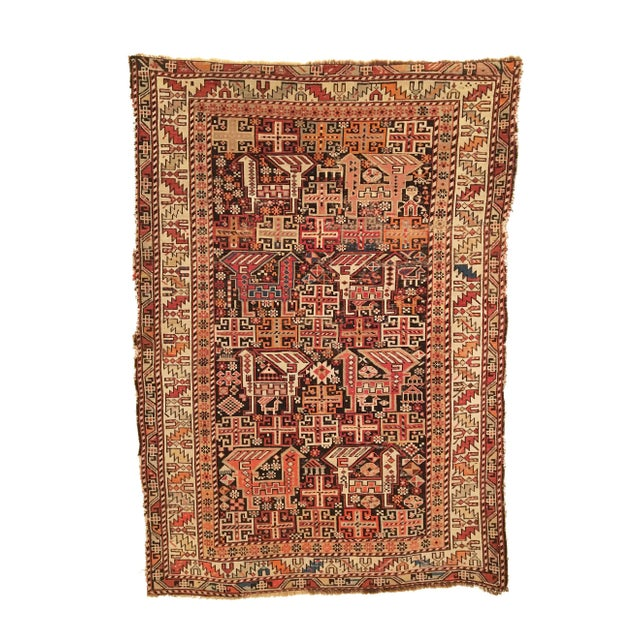 Late 19th Century Antique Caucasian Shirvan Rug For Sale - Image 5 of 5