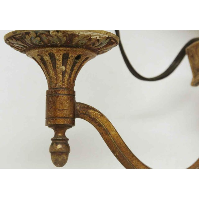 1920s Single Two Arm Bronze Sconce For Sale - Image 4 of 11