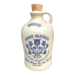 Henry McKenna Sour Mash Bourbon Whiskey Stoneware Jug For Sale