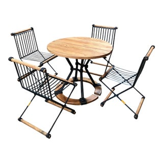 Cleo Baldon Outdoor Table and Chairs For Sale