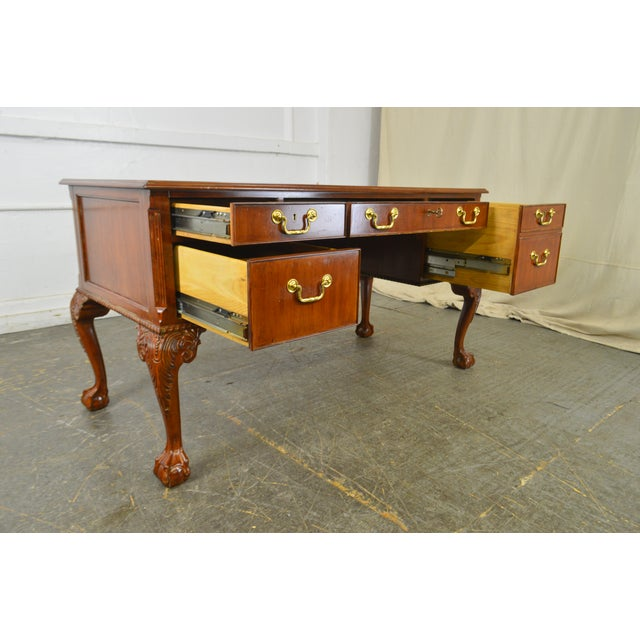 Chippendale Councill Craftsman Style Gany Ball Claw Desk For Image 3 Of