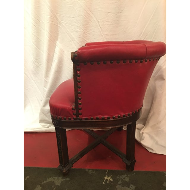 Wood Napoleon III Desk Chair in Walnut For Sale - Image 7 of 11