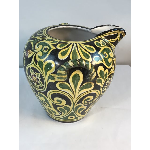 Antique 19th C. Cantagalli Deruta Italy Pottery Urn Vase For Sale In Chicago - Image 6 of 13