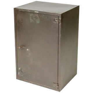 1900 English Steel Cabinet With One Door For Sale