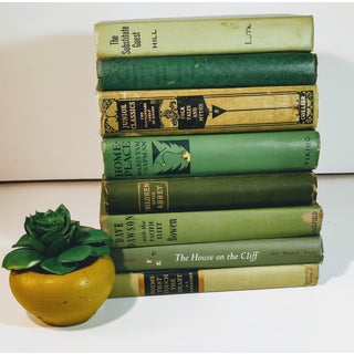 Vintage Mid Century Green Books- Set of 8 Preview