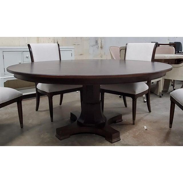 Thomasville Furniture Harlowe Finch Adelaide Round Dark Oak Dining Table Chairish