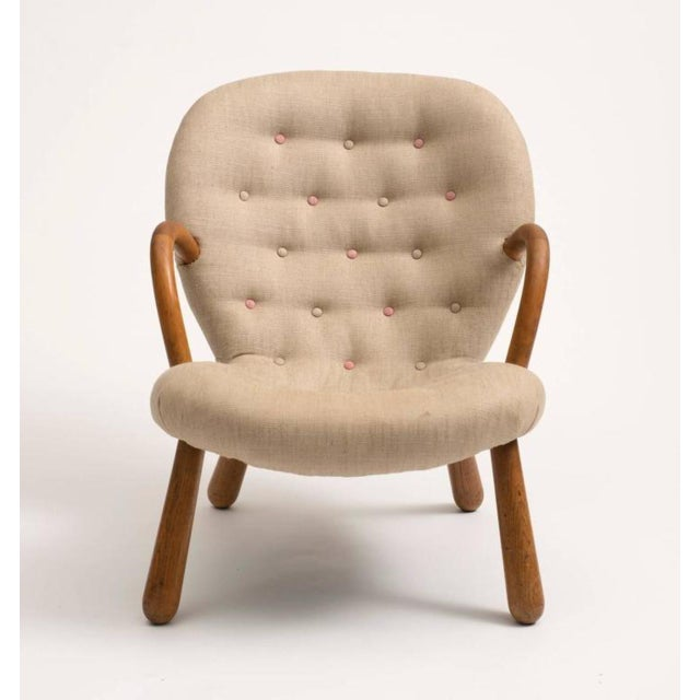 Clam chair designed by Philip Arctander and manufactured by Nordisk Staal & Mobel Central, Copenhagen. Recently...