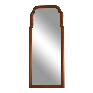 1980's Vintage Henkel Harris Walnut Tombstone Design Mirror For Sale
