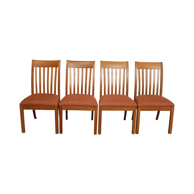 Ethan Allen American Artisan Collection Set 4 Colby Side Dining Chairs Chairish