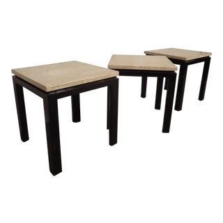 Mid-Century Marble-Top Harvey Probber End Tables - Set of 3 For Sale