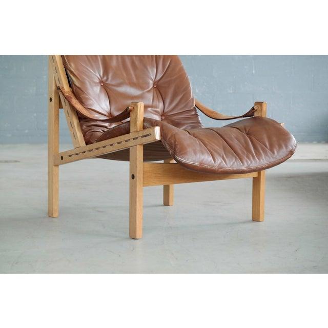 1960s Midcentury Easy Chair Model Hunter by Torbjørn Afdal for Bruksbo, Norway For Sale - Image 5 of 9